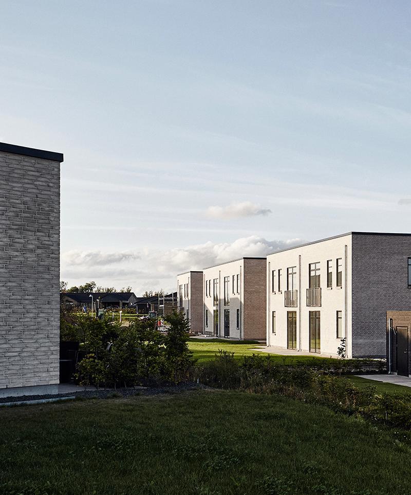 Skibby Bakke boliger på den anden side af Roskilde fjorden