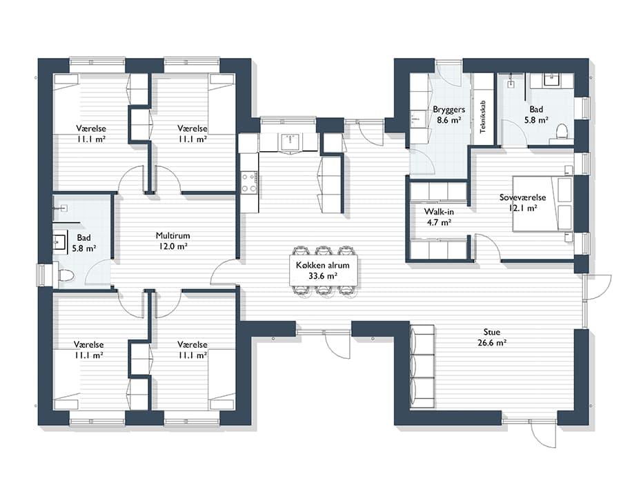 H hus 190 m2